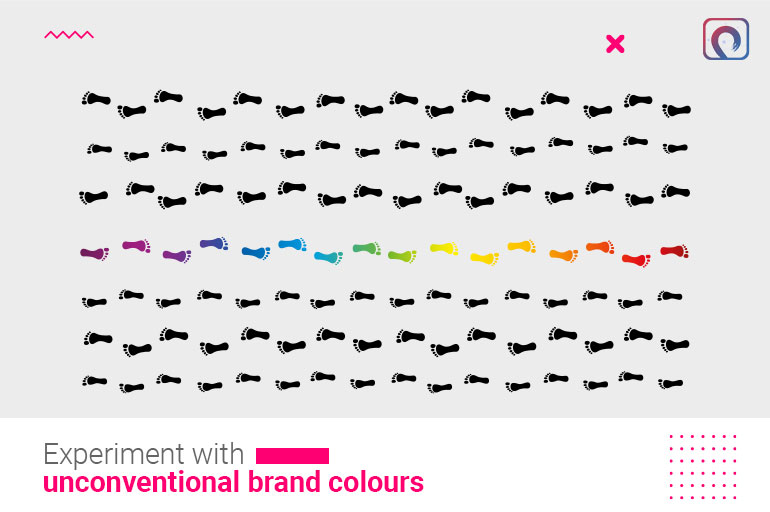 Building a brand strategy - Experiment with unconventional brand colours