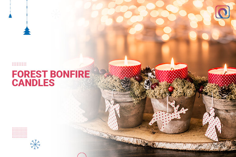 Christmas Gift - Forest bonfire candles