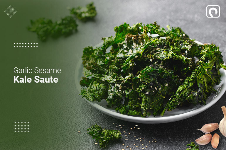Healthy Kale Recipe with sesame