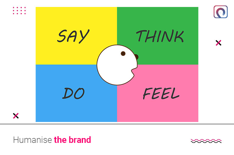 Building a brand strategy - Humanise the brand