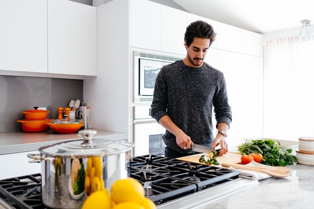 Man Learning Cooking