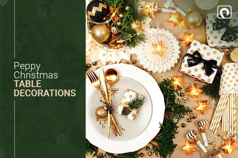 Christmas Decorations Idea - Peppy Christmas Table Decorations