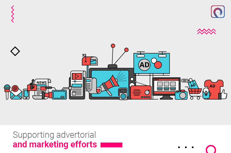 Supporting advertorial and marketing efforts